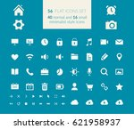 flat icons set with web...