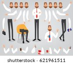 businessman character creation... | Shutterstock .eps vector #621961511