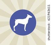 dog icon. sign design.... | Shutterstock .eps vector #621963611
