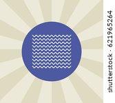 wavy line icon. sign design.... | Shutterstock .eps vector #621965264