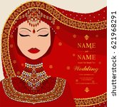 wedding invitation card...   Shutterstock .eps vector #621968291