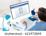 close up of a businesswoman...   Shutterstock . vector #621972845