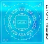 vector set of calligraphic...   Shutterstock .eps vector #621974795
