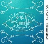 enjoying the summer time. hand... | Shutterstock .eps vector #621976721