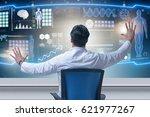 doctor in telemedicince... | Shutterstock . vector #621977267