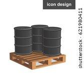 vector icon palette barrels oil | Shutterstock .eps vector #621980411