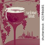 cover for a wine list menu with ... | Shutterstock .eps vector #621986681
