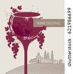 cover for a wine tasting menu... | Shutterstock .eps vector #621986699