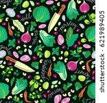 kitchen background. cooking... | Shutterstock .eps vector #621989405