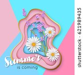 summer is coming typography... | Shutterstock .eps vector #621989435