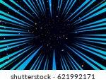 hyper speed warp sun rays or... | Shutterstock .eps vector #621992171
