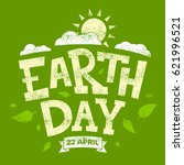 earth day banner  22nd april ... | Shutterstock .eps vector #621996521