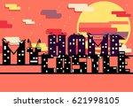 inscription my home my castle... | Shutterstock .eps vector #621998105