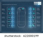 futuristic user car interface.... | Shutterstock .eps vector #622000199
