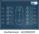 futuristic user car interface.... | Shutterstock .eps vector #622000205