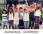 group of kids school field...   Shutterstock . vector #622000301