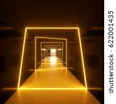 Abstract Dark Hallway With...