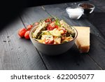 whole wheat pasta salad with... | Shutterstock . vector #622005077