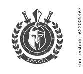 military symbol  spartan helmet ... | Shutterstock . vector #622005467