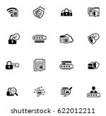 flat design security and... | Shutterstock .eps vector #622012211
