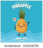 vintage pineapple poster design ... | Shutterstock .eps vector #622016795