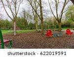 springtime scene in a park  a... | Shutterstock . vector #622019591