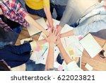 asian smart freelancer group in ... | Shutterstock . vector #622023821
