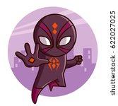 Superhero Spider Sticker Vecto...