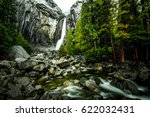 Long Exposure Waterfall With...