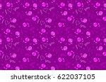 raster hearts doodle pattern ...   Shutterstock . vector #622037105