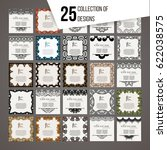 set of vector design templates. ... | Shutterstock .eps vector #622038575