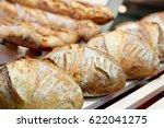 fresh baked artisan bread at...   Shutterstock . vector #622041275