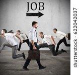 follow the job arrow. fear of...   Shutterstock . vector #622042037