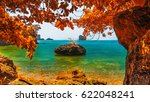 beautiful destinations beach in ... | Shutterstock . vector #622048241