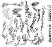vector collection ink hand... | Shutterstock .eps vector #622050209