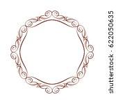 decorative retro frames .vector ... | Shutterstock .eps vector #622050635