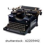 Old Black Vintage Typewriter O...