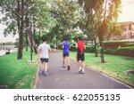 blurry picture of young man are ... | Shutterstock . vector #622055135