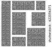 seamless celtic knots patterns...   Shutterstock .eps vector #622056371