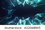 abstract blue geometrical... | Shutterstock . vector #622068845