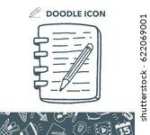 doodle notebook | Shutterstock .eps vector #622069001