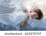 beautiful woman sleeping and... | Shutterstock . vector #622070747