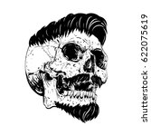 vector skull artwork | Shutterstock .eps vector #622075619