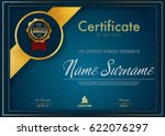 certificate template luxury and ... | Shutterstock .eps vector #622076297