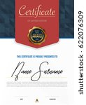 certificate template luxury and ... | Shutterstock .eps vector #622076309