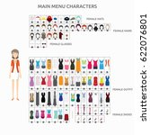 character creation casuallady | Shutterstock .eps vector #622076801