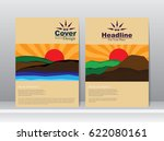 cover template with mountain... | Shutterstock .eps vector #622080161