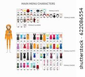 character creation astronaut | Shutterstock .eps vector #622086554