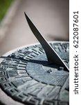 Close Up Of A Brass Sundial...