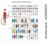 character creation firefighter | Shutterstock .eps vector #622090055